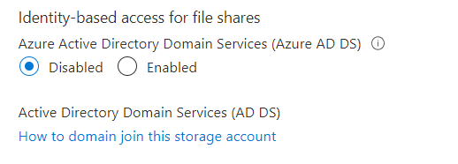 How to join Azure File Share to Active Directory Domain Controller